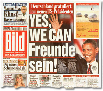 Photo of front page of a Bild tabloid